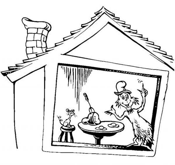 600x568 Dr Seuss The Cat In The Hat Coloring Page For Kids Color Luna