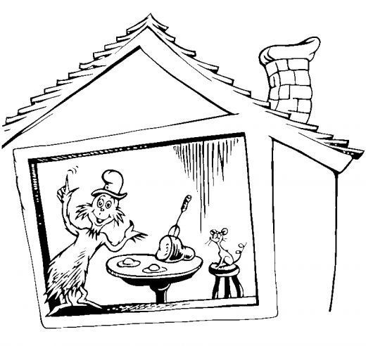 520x492 Cat In Hat Coloring Sheet Free Coloring Pages Cat