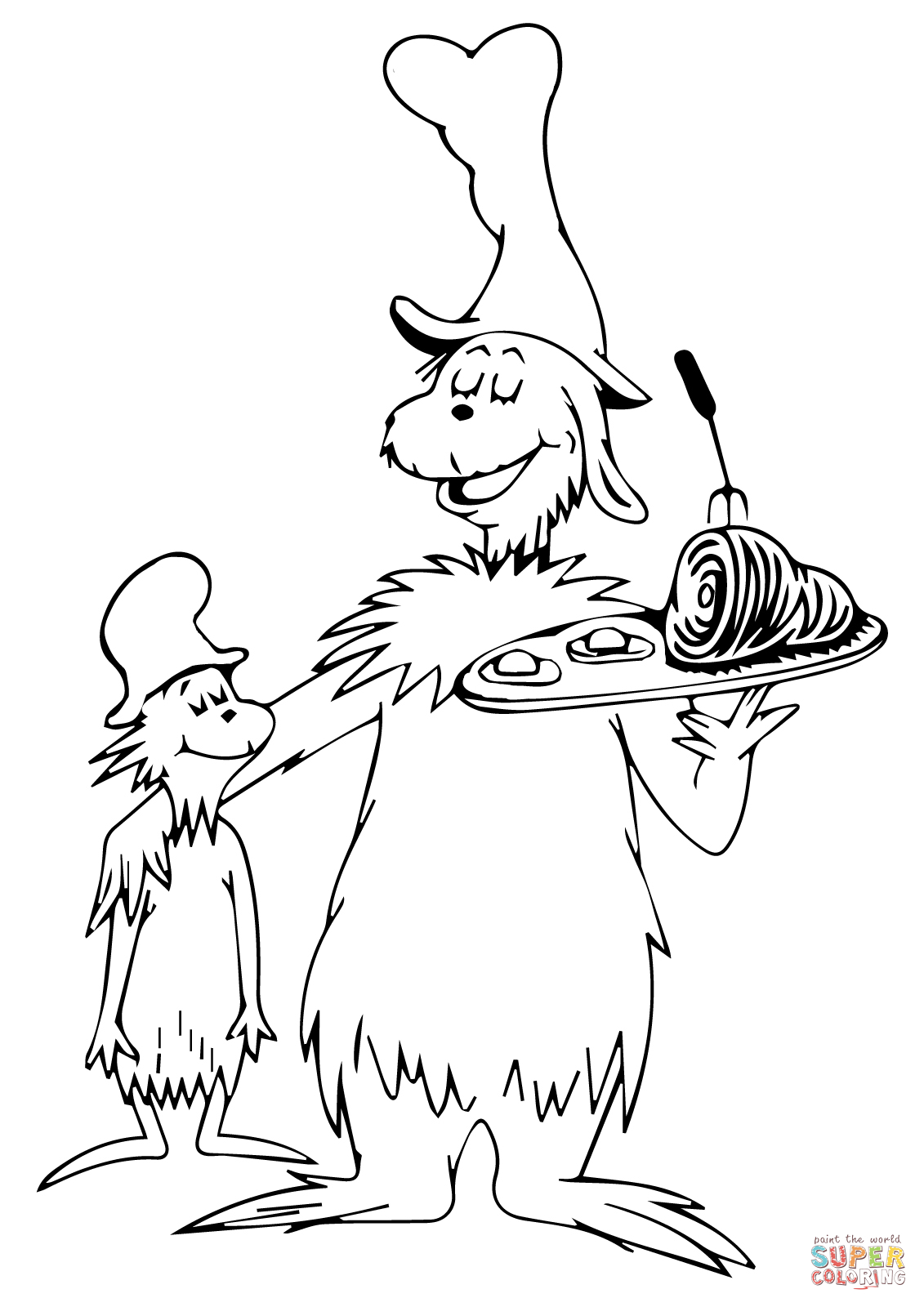 1131x1600 Cat In The Hat Coloring Sheet Pinned