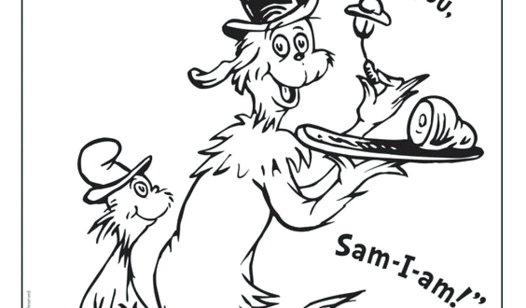 1024x600 Dr Seuss Thing And Coloring Sheets Pages Green Eggs Ham Line