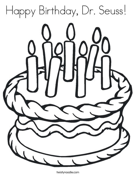 468x605 Happy Birthday, Dr Seuss Coloring Page