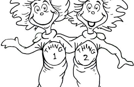 469x304 Dr Seuss Coloring Pages Thing And Thing Just Colorings