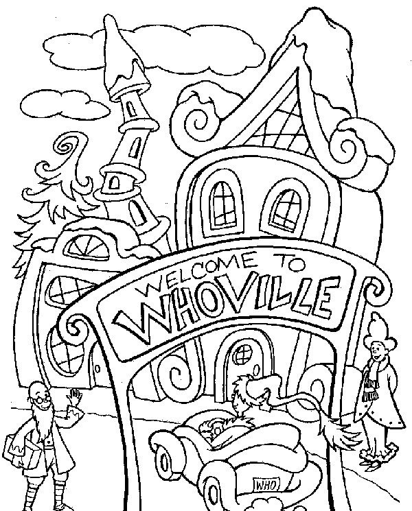 600x745 Dr Seuss Coloring Pages For Christmas
