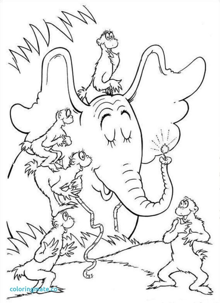 743x1024 Horton Hears A Who Coloring Pages Lifetime Dr Seuss Page Fresh