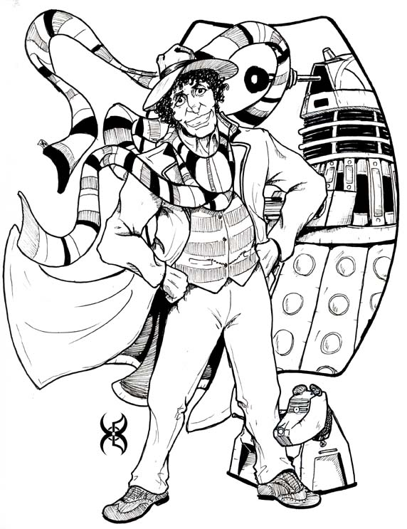 572x743 Doctor Who Dalek Coloring Pages