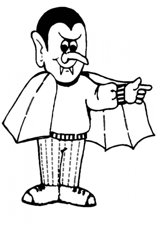 531x750 Dracula Coloring Pages