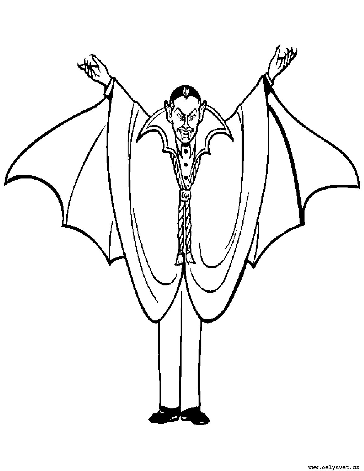 1175x1520 Dracula Coloring Page