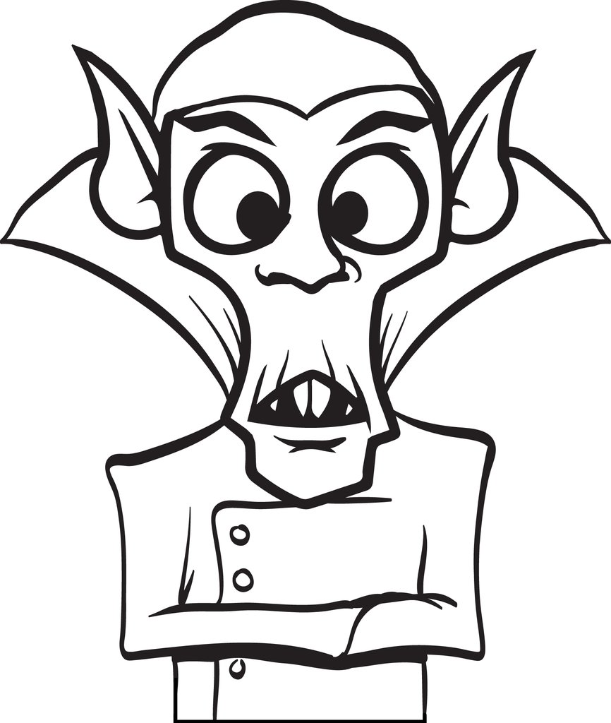 866x1024 Free Printable Dracula Coloring Page For Kids
