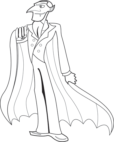 400x498 Halloween Coloring Page Dracula Parents