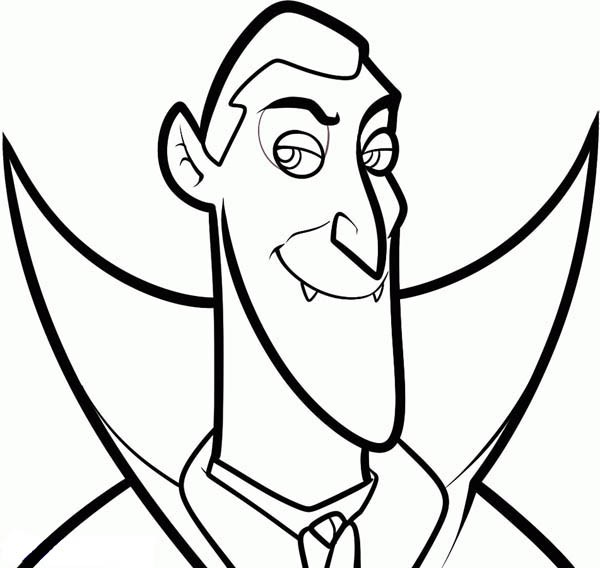 600x568 Count Dracula From Hotel Transylvania Coloring Pages Bulk Color