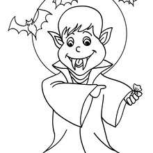 220x220 Count Dracula Coloring Pages