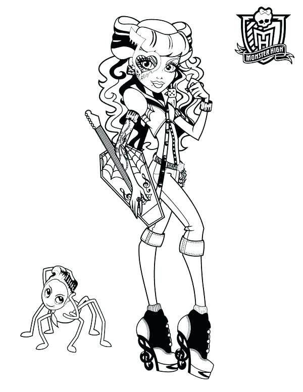 Draculaura Coloring Pages