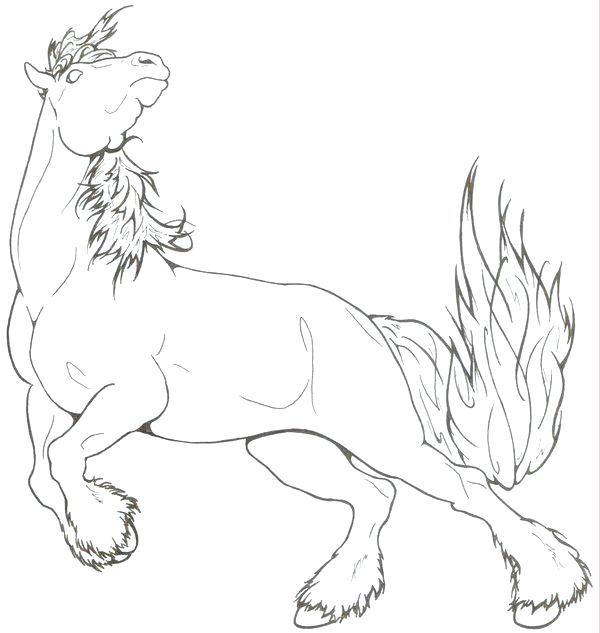 600x633 Free Draft Horse Coloring Pages Spirited