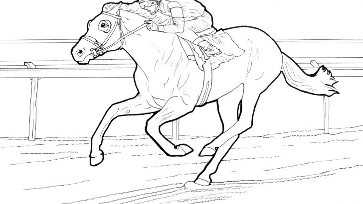 728x410 Free Horse Coloring Pages Printable Race Carousel For Adults
