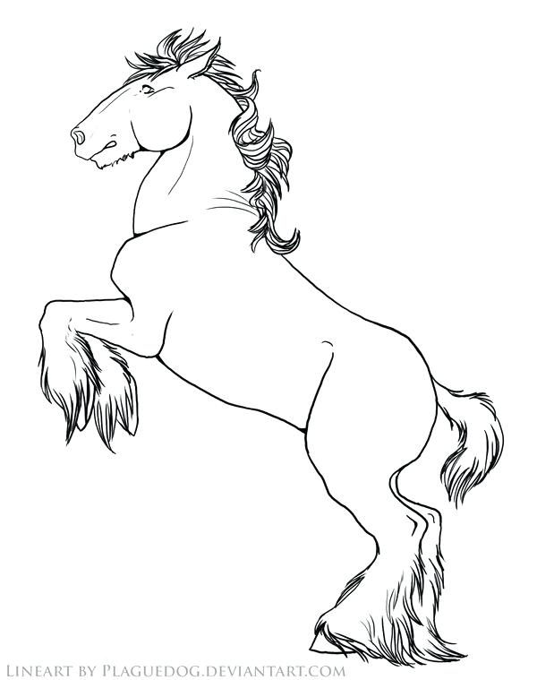 600x759 Breyer Coloring Pages Coloring Pages Rearing Draft Horse