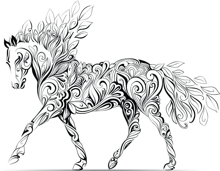 736x572 Draft Horse Coloring Pages Powermoves Site