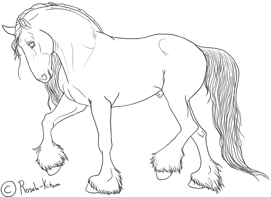 900x653 Coloring Pages Of Draft Horses