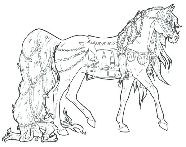 600x476 Draft Horse Coloring Pages Animal Coloring Beautiful Draft Horse