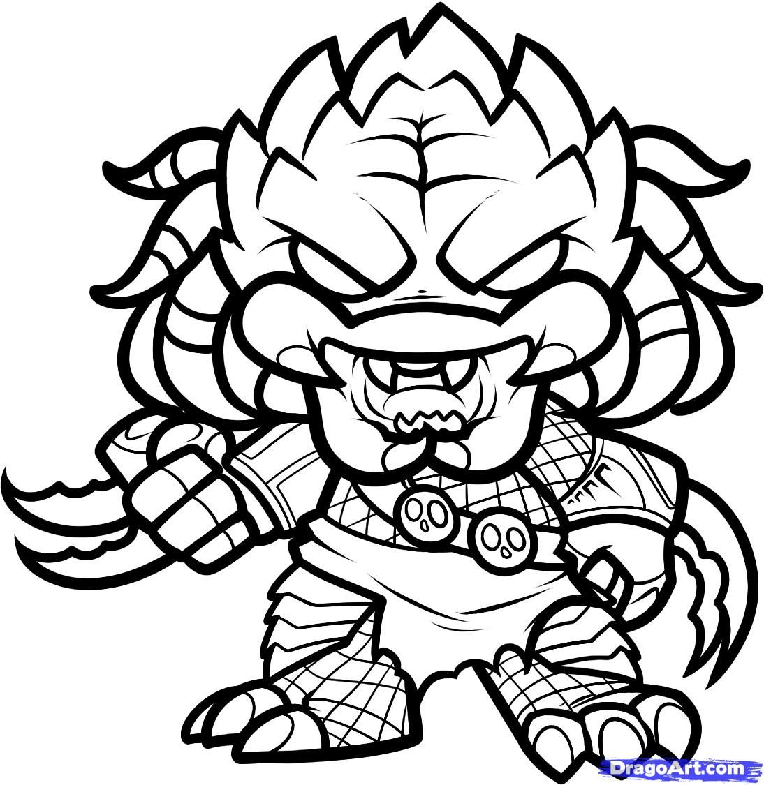 1094x1125 Avp Coloring Pages