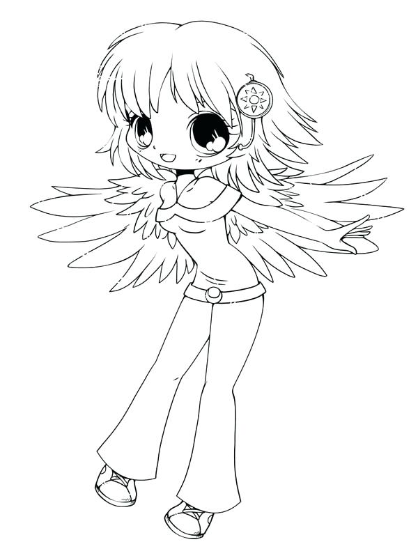 600x801 Chibi Coloring Pages
