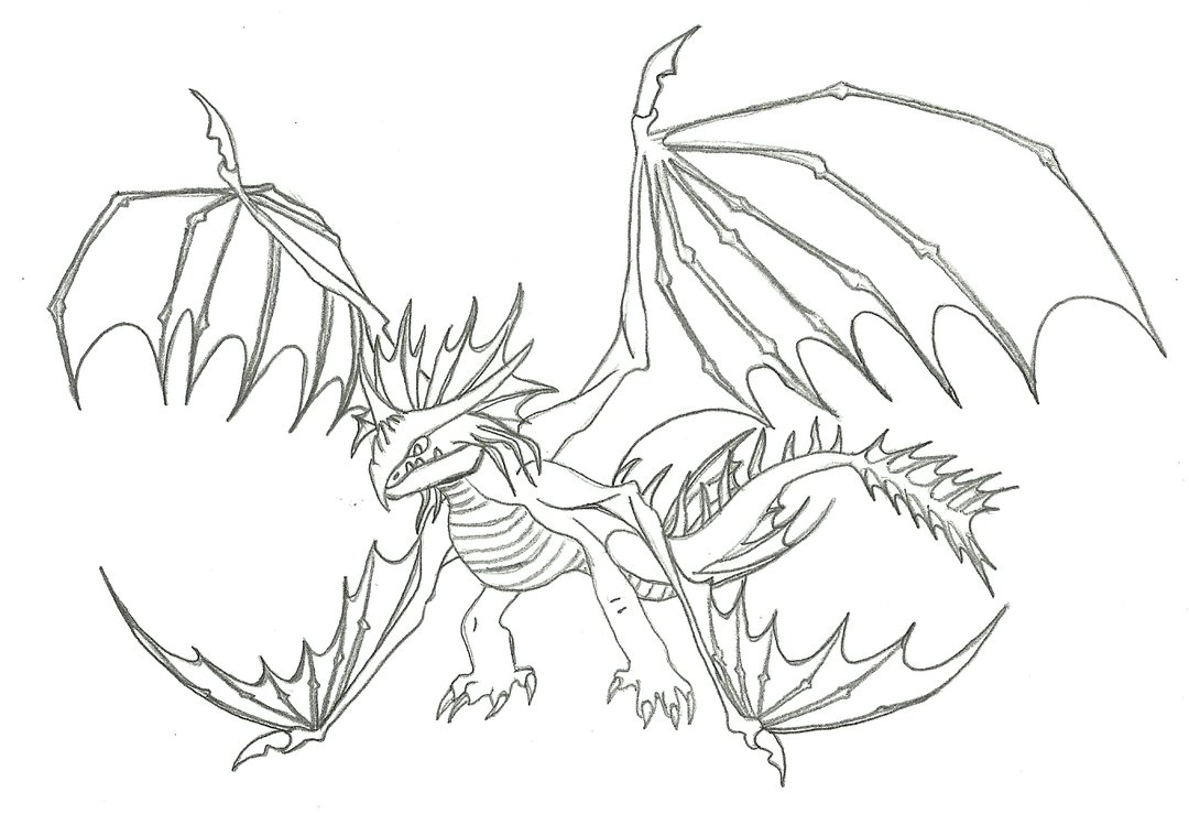 1080x739 How To Train A Dragon Coloring Pages Inside Your