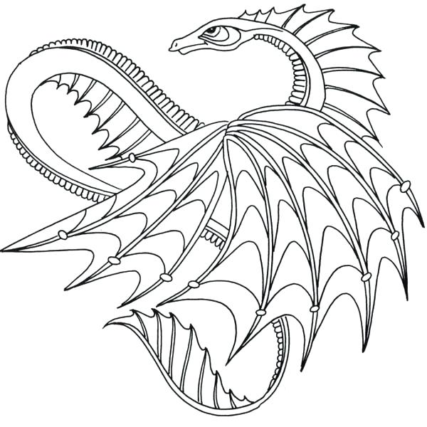 600x600 How To Train Your Dragon Coloring Pages Drawn Water Dragon Thin