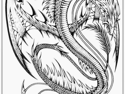 440x330 Coloring Pages Dragon, Detailed Dragon Coloring Pages Coloring