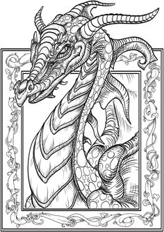 236x333 Dragons Make A Photo Gallery Dragon Coloring Pages For Adults