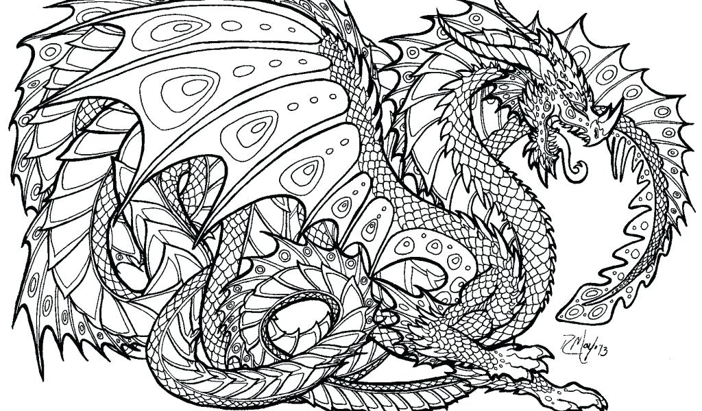 1024x600 Unique Coloring Pages For Dragons For Adult Coloring Pages Dragon