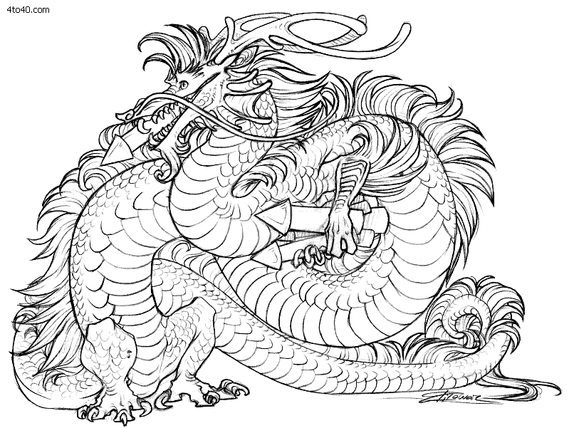 799x601 Adult Coloring Pages Download Dragon Free