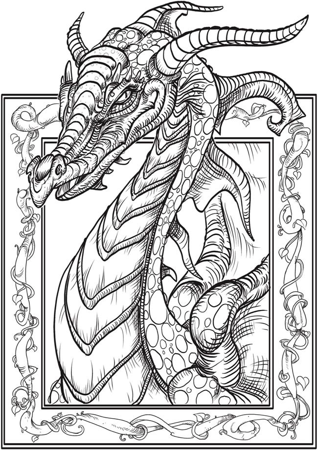650x919 Printable Adult Coloring Pages Dragon Eye Free