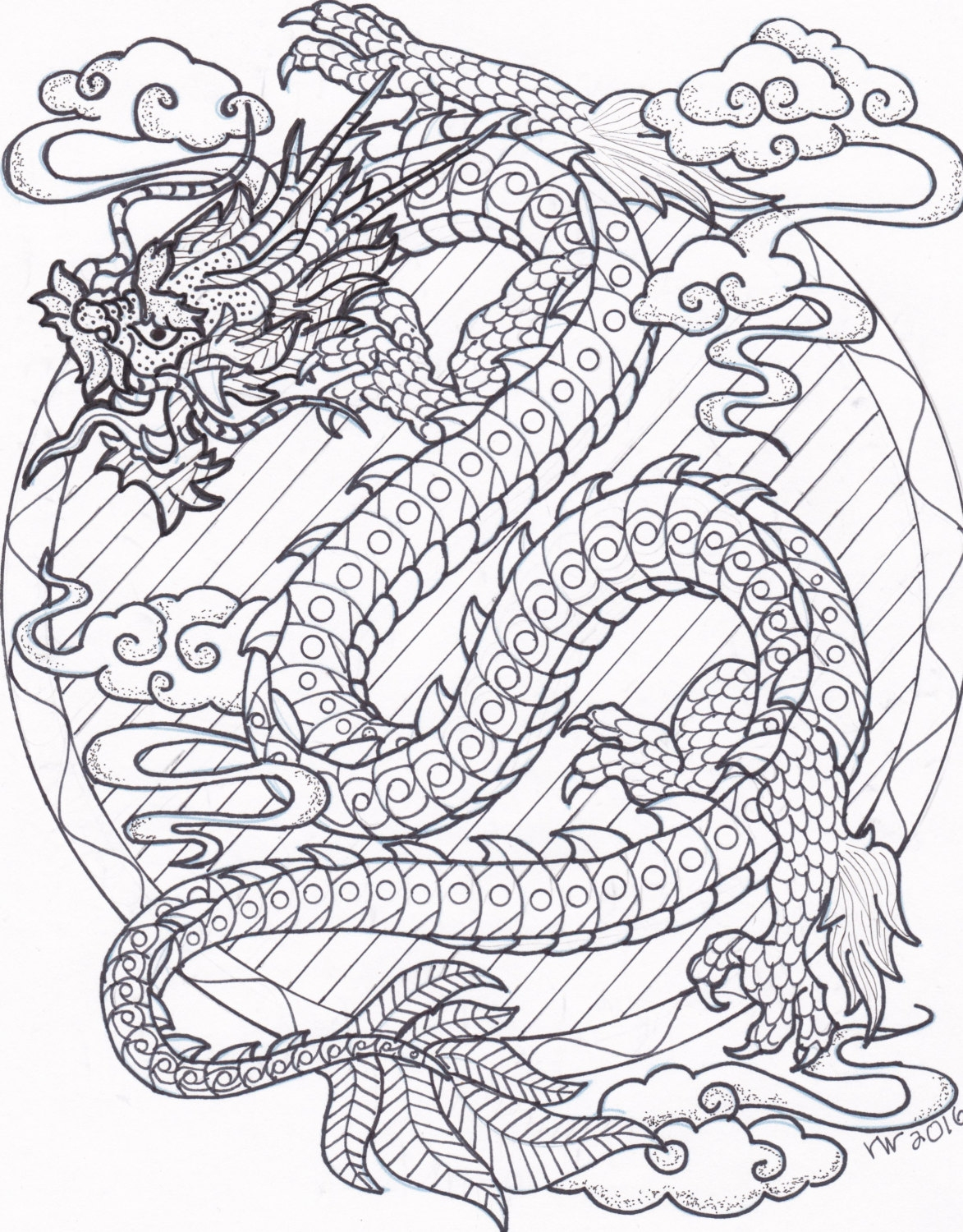 Dragon Adult Coloring Pages at GetDrawings.com | Free for personal ...