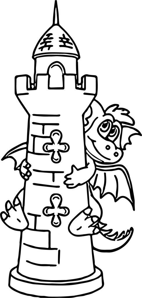 489x1024 Hiding Dragon Castle Coloring Page Wecoloringpage