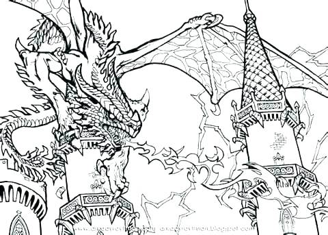 Dragon And Castle Coloring Pages at GetDrawings.com   Free for ...