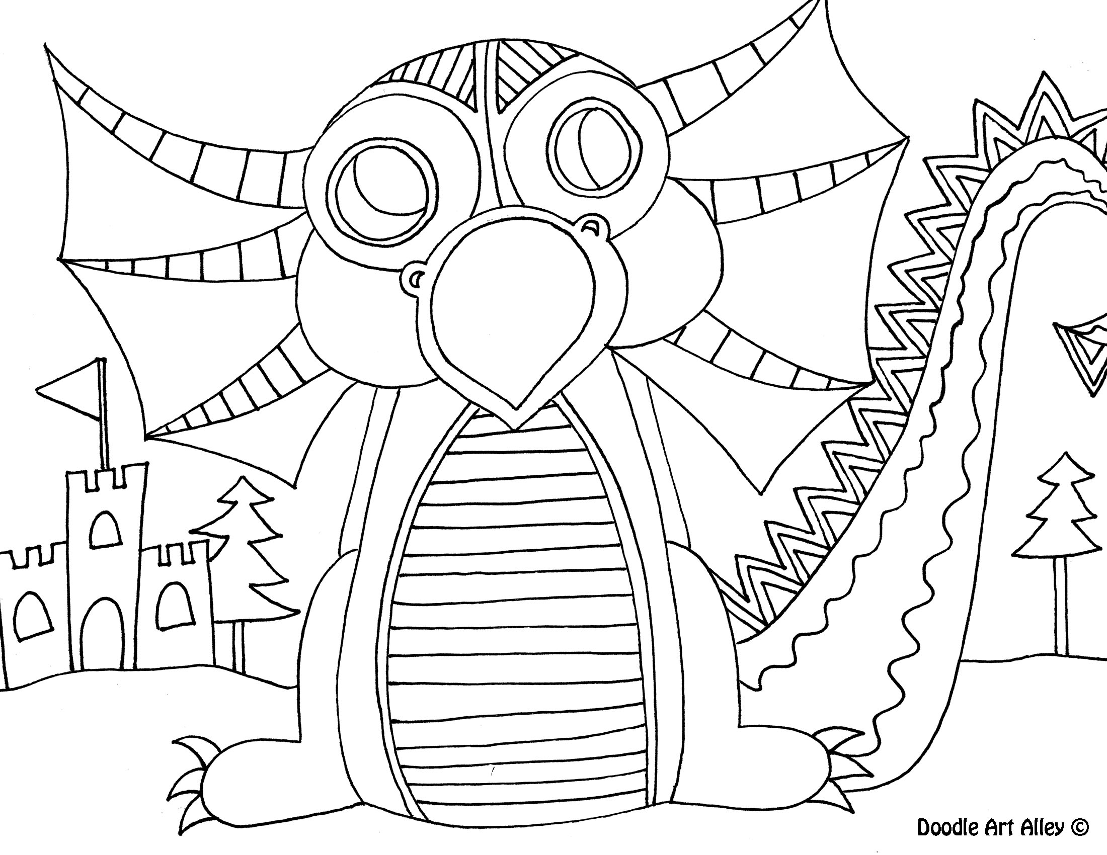 2200x1700 Dragon Coloring Pages