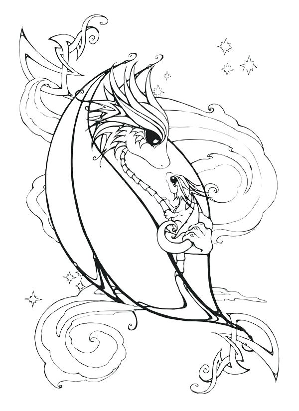 600x825 Baby Dragon Coloring Pages Dragon Art Coloring Pages Mother