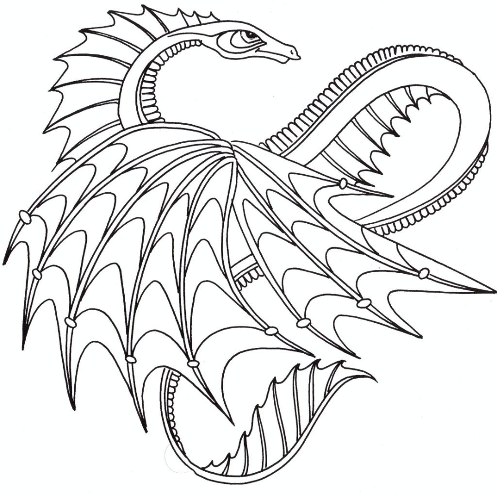 1024x1024 Printable Advanced Coloring Pages New Advanced Dragon Coloring