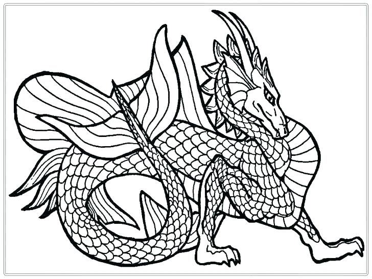 728x546 Dragon Art Coloring Pages