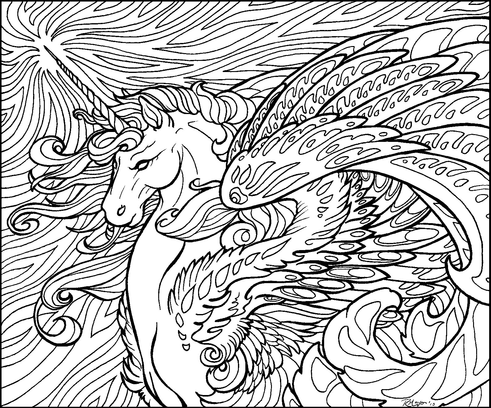 1589x1320 Coloring Page For Adults Dragon Pages Montenegroplaze Me