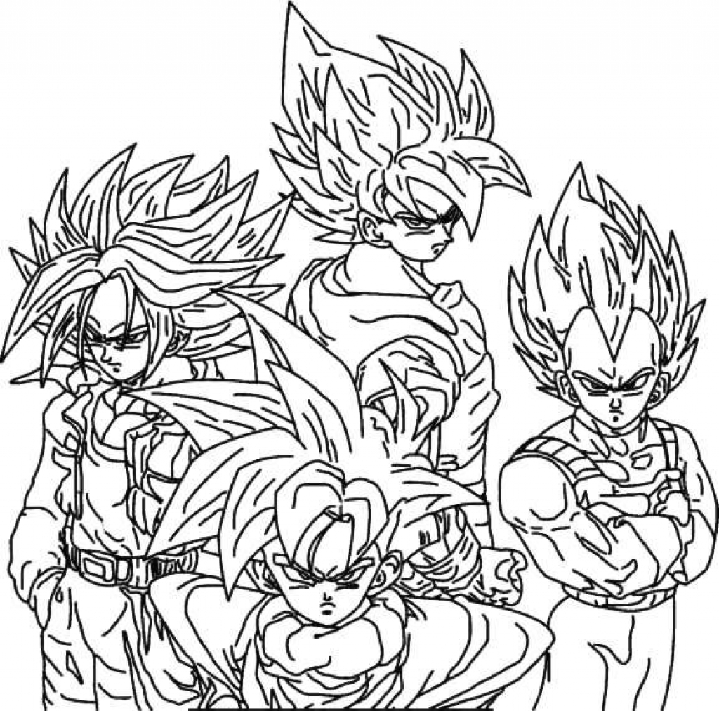 1024x1012 Dragon Ball Z Coloring Pages Coloringstar Within Dragon Ball