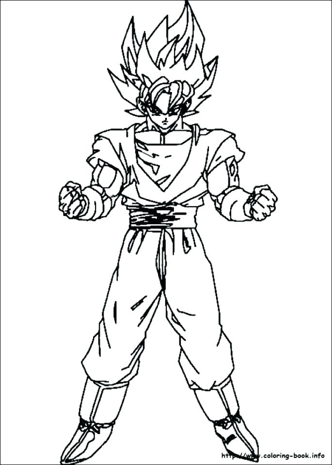 685x960 Dragon Ball Gt Coloring Pages Or Z Colouring Medium Size