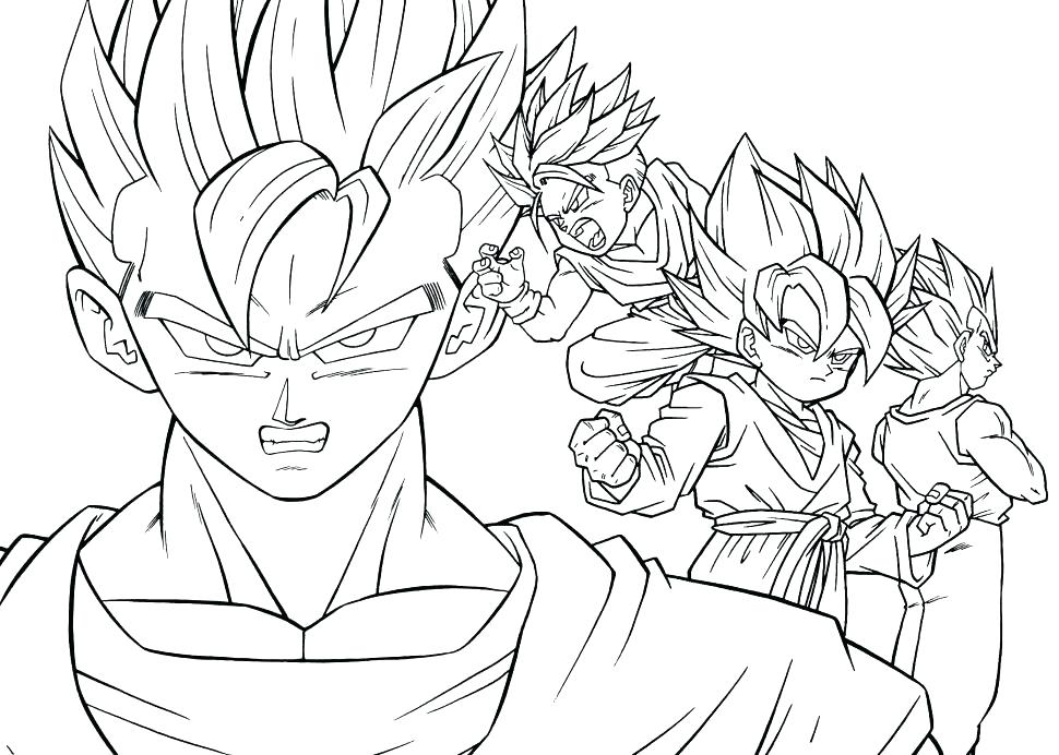 970x692 Dragon Ball Gt Coloring Pages