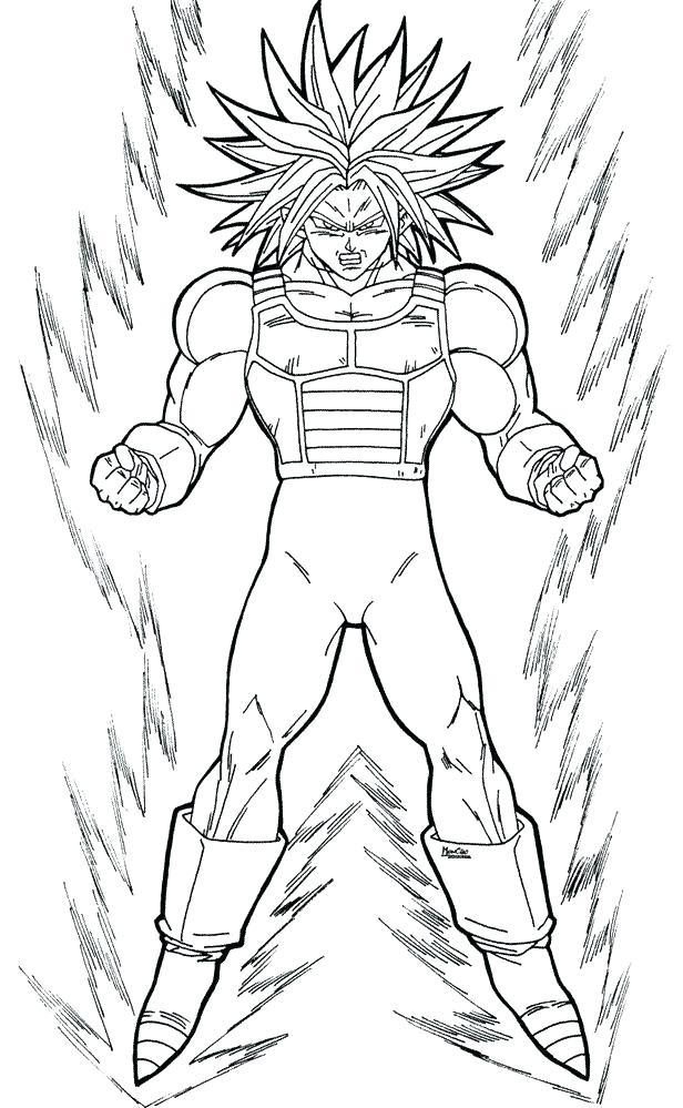 616x999 Dragon Ball Z Coloring Page Coloring Pages Dragon Ball Z Coloring