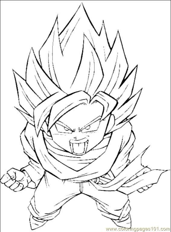 567x768 Dragon Ball Z Printable Coloring Pages