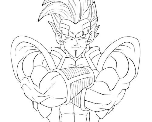 500x400 Dragon Ball Gt Coloring Pages Dragon Ball Gt Coloring