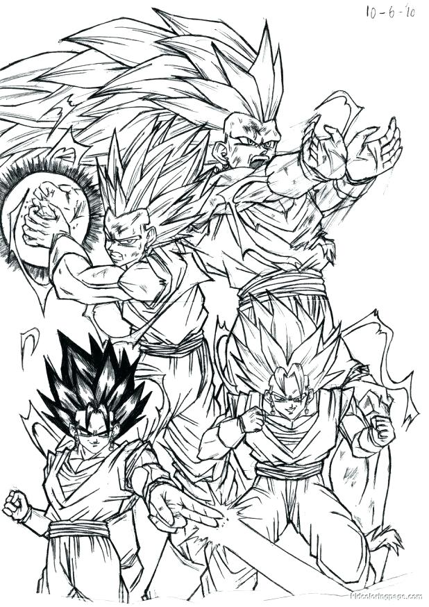 618x874 Surprising Dragon Ball Z Color Pages Free Dragon Coloring Pages