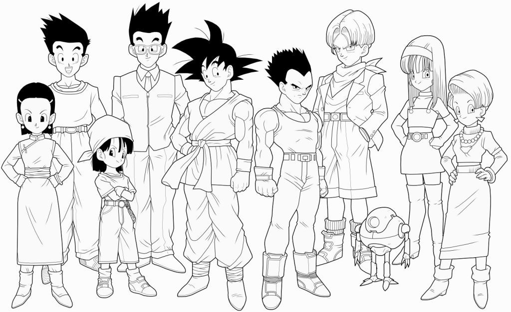 1024x626 Dragon Ball Gt Coloring Pages Coloring Pages