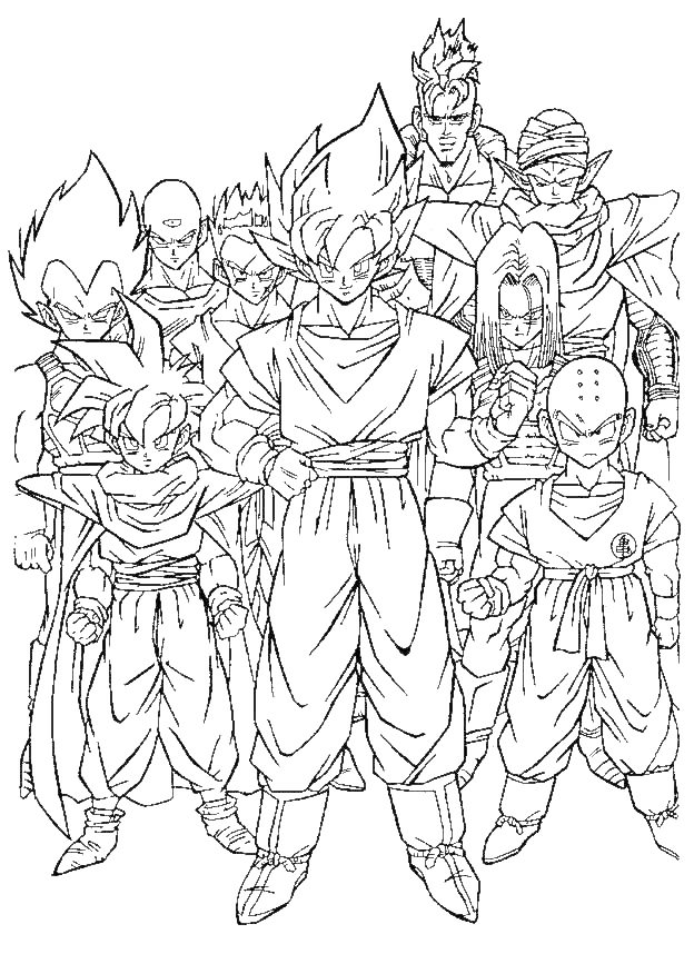 Dragon Ball Super Coloring Pages At Getdrawings Com Free For