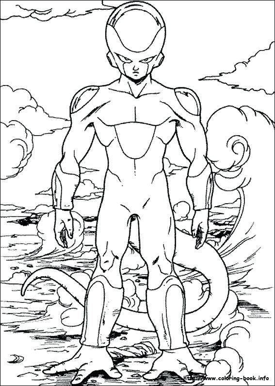 567x794 Dragon Ball Z Coloring Picture Pictures Printable Murs