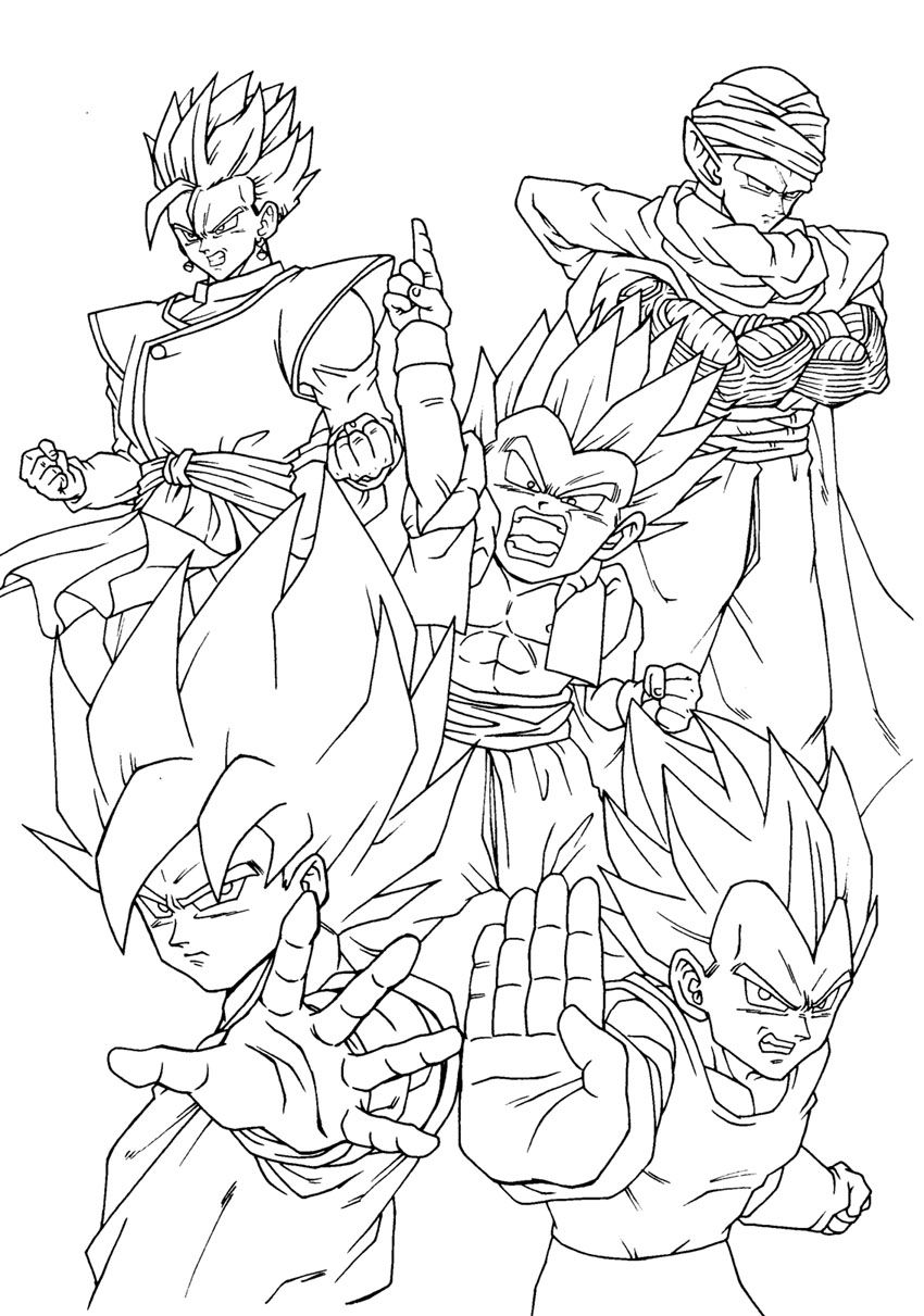 850x1211 Dragon Ball Z Coloring Pages Cartoons Art Dragon